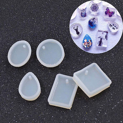 Silicone Mold DIY Jewelry Pendant Charm Making Mould With Hanging Hole