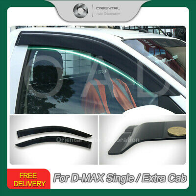 Injection Weathershields Weather Shields Window Visor D-MAX DMAX 2D2pcs 12-19 SJ