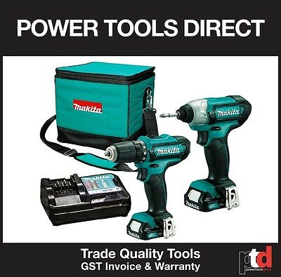 New Makita 12V Cordless Lithium Ion 2 Piece Combo - Drill Driver & Impact Driver