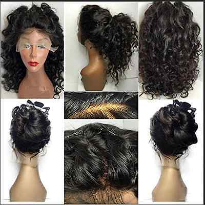 100% Brazilian Remy Human Hair Lace Front Wig Curly Wave Fashion Women Wigs 8""