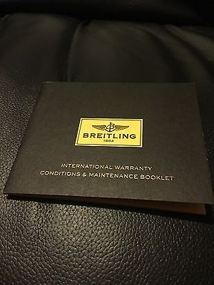 Breitling International Warranty Booklet Blank