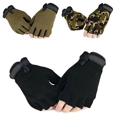 Outdoor Tactical Fingerless Training Military Gloves Half Finger Gloves Mittens