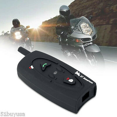 500M BT Bluetooth Casco Auricular Moto Interphone Motorcycle Helmet Intercom ES