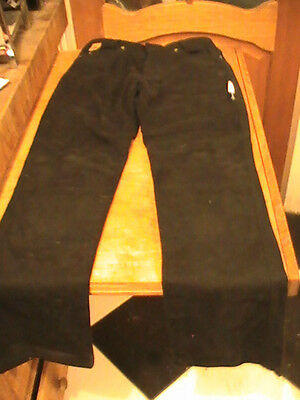RED ROUTE Ladies Denim Motorcycle jeans trousers size 8 black