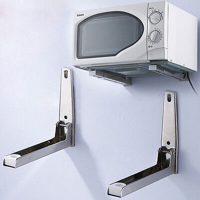 Microwave Oven Universal Shelf Wall Bracket Adjustable Folding Holder MW
