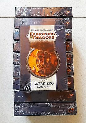 D&D Dungeons & Dragons 4.0 CARTE POTERE GUERRIERO LOTTO 10 SCATOLE SIGILLATE!!!