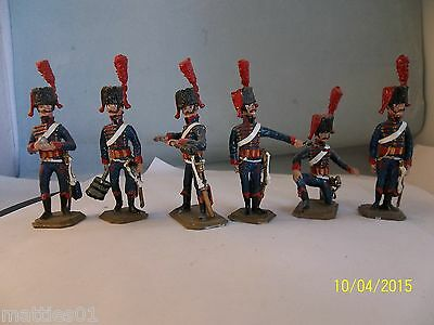 French Horse Artillery of the Guard 1810, 6 Mann, 54mm Hinchliffe