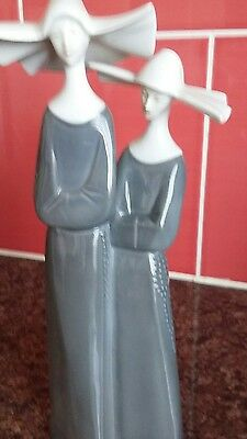 Lladro Style  Continental GDR Nuns Plus one other