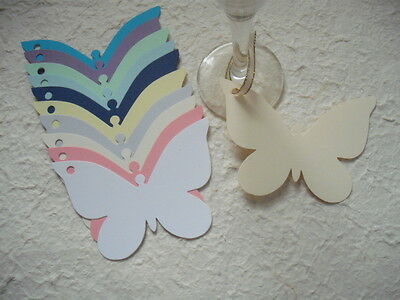 20 Butterfly shaped tags toppers wedding wishing tree place cards gifts