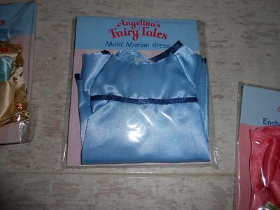 Angelina Ballerina Fairy Tales outfit B.N sealed bag #33 Maid Marian Blue Dress