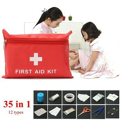 35 Piece First Aid Kit Medical Emergency Bag Outdoor Camping Travel-Holiday