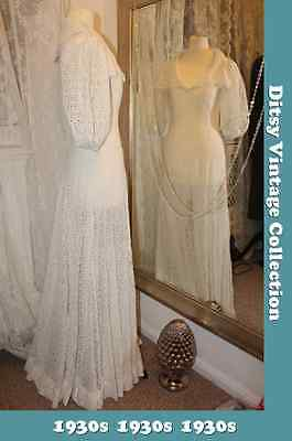 1930s 1940s white wedding dress - Size 8 - Ditsy Vintage Immaculate bridesmaid
