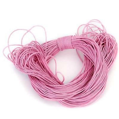 45M 1mm Beading Bracelets Necklace Waxed Cotton Cord String Jewlery Making Pink