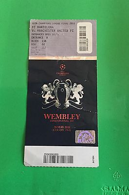 Ticket Barcelona - Manchester United Final Champions League 2011 With Names