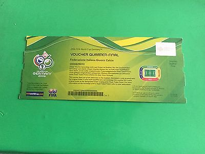 Biglietto Ticket Voucher Italia - Ucraina Mondiali Germania 2006