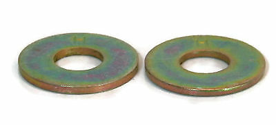 "Flat Washers Extra Thick Grade 8 Yellow Zinc 3/8"" - Qty-25"