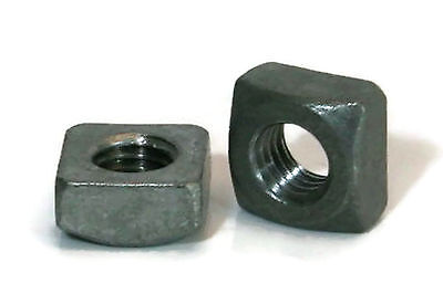 "Square Nuts Hot Dipped Galvanized Grade 2 - 3/8""-16 UNC - QTY 50"