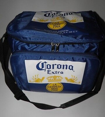 Corona Extra Soft Insulated Cooler Padded Zipper Beer Cervza Camp Beach 12 Pack