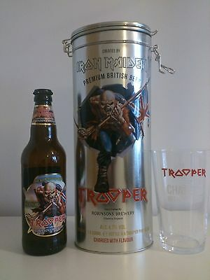 The Trooper Iron Maiden Beer Limited Edition Metal Tin *no beer*