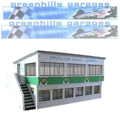 greenhills scalextric slot car building reims press box kit 1 32 scale brand n. Black Bedroom Furniture Sets. Home Design Ideas