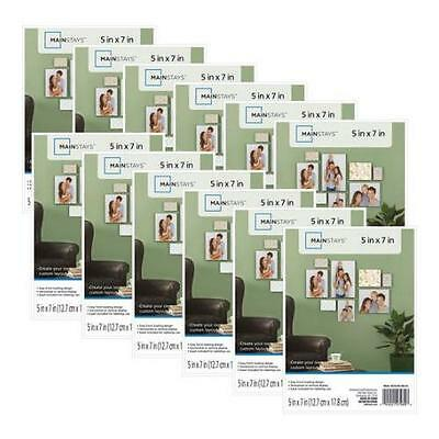 Mainstays 5x7 Format Picture Frame, Set of 12 | actualColor: White