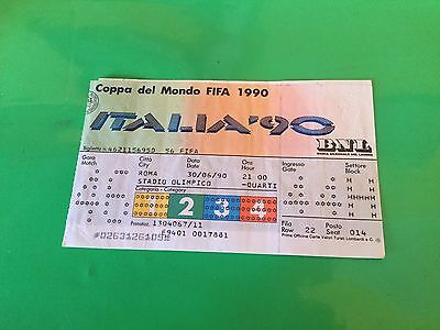 Ticket Italy - Eire World Cup Italia 1990 Match N. 46