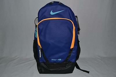 AUTHENTIC Nike TEAM TRAINING MAX AIR LARGE BA4890 455 BLUE BACKPACK DAYPACK NEW