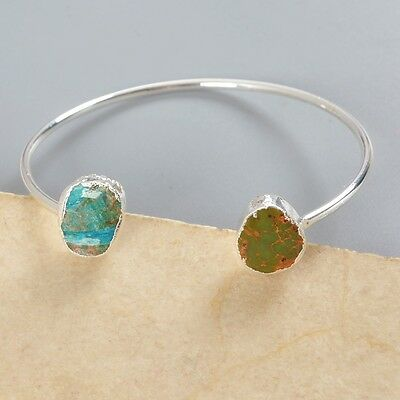100% Genuine Turquoise Bangle Silver Plated B024371