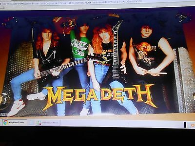 Megadeth Poster 1988 Original 34x22 Funky #3170 never opened.