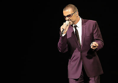 George Michael Purple Suit Legend Icon WALL ART CANVAS FRAMED OR POSTER PRINT