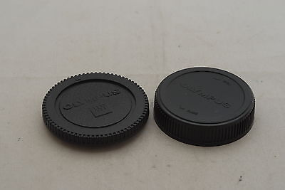 4/3 Rear Lens Cap and Body Cap Set for Pananonic and Olympus SLR Camera