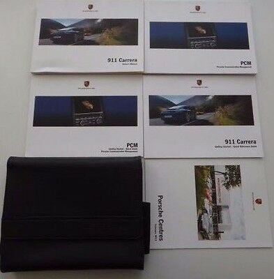 Porsche 911 Carrera 991 Owners Handbook/Manual NAV Pack & Wallet 2011-2015