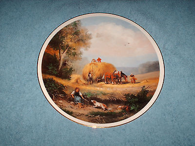 fenton china village life harvest collectable plate 27 cm