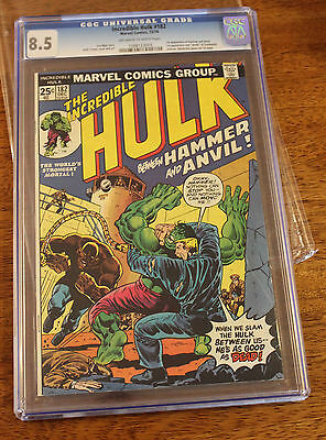 Incredible Hulk 182 - 3rd Wolverine CGC 8.5 -  Cracked Slab
