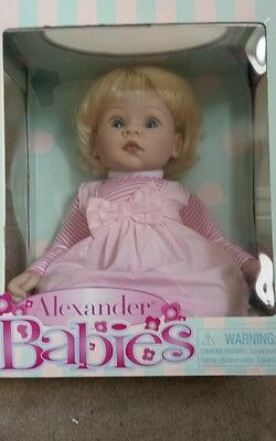 """Madame Alexander 18"""" Collectable Life-Like Baby Doll  in gift box - RRP £99"""