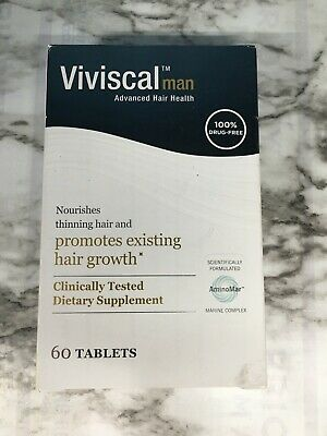 Viviscal Man 60 Tablets One Month Supply Expires JANUARY 2021 Men Hair growth