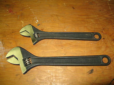 Proto 712S & 710S Adjustable 12-inch & 10-inch Wrench's Black Oxide NEW