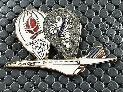 pins pin OLYMPIC JO ALBERTVILLE 92 OLYMPIQUE CONCORDE MICHELIN AIR FRANCE