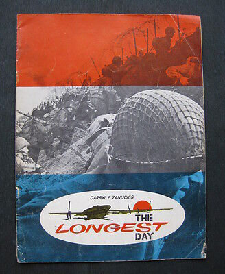 THE LONGEST DAY 1962 Orig movie programme Kenneth More Sean Connery John Wayne
