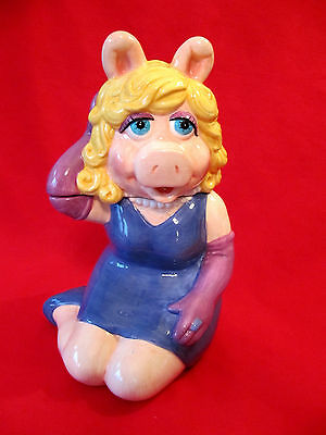 Vintage Miss Piggy Cookie Jar Treasure Craft - Muppets - Jim Henson
