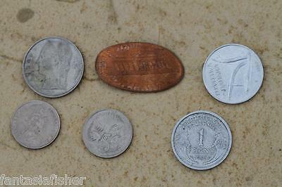 Small Collection Of Coins, 1 Franc, Italy