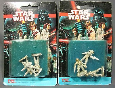 Imperial Officers West End Games Star Wars Miniatures !!  s87
