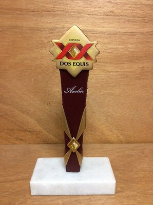 "Dos Equis Ambar Cerveza Beer Ceramic Tap Handle New in Box & F/S 6.75"" Shorty"