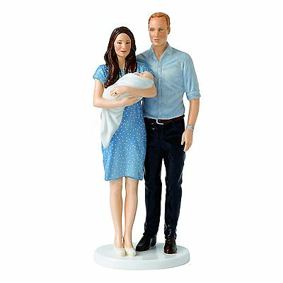 Orig $500 Royal Doulton - Prince George With Parents William and Kate - LMT EDT