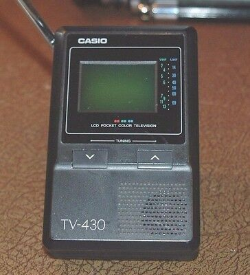 Casio LCD pocket TV-430 Color TV Portable VHF UFH TV Vintage Electronics