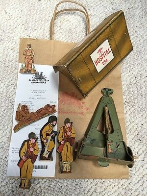 American Pickers Pick Lot of 7 ARMY Soldiers Tent Cannon Paper Toys Vintage