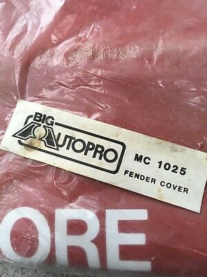 NOS Vintage BIG AUTOPRO Fender Mat Cover Spark Plugs Fender Protector Champion