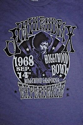 Jimi Hendrix Experience Retro Hollywood Bowl '68 T Shirt Mens Large Psychedelic