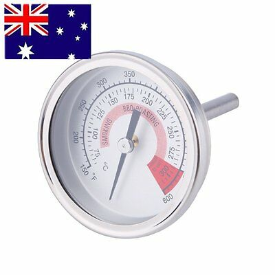 Stainless Steel Barbecue BBQ Pit Smoker Grill Thermometer Outdoor Camping Cook G