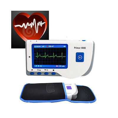 FORCE PC-80B Handheld Color ECG EKG Portable Heart Monitor+Pouch + GIFT OXIMETER
